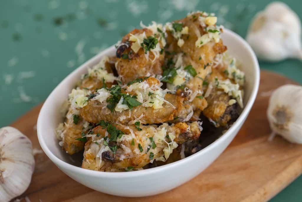 Air Fryer Garlic Parmesan Wings