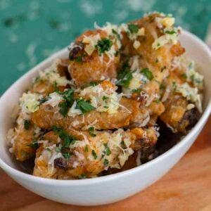 Garlic Parmesan Wings in Air Fryer or Oven