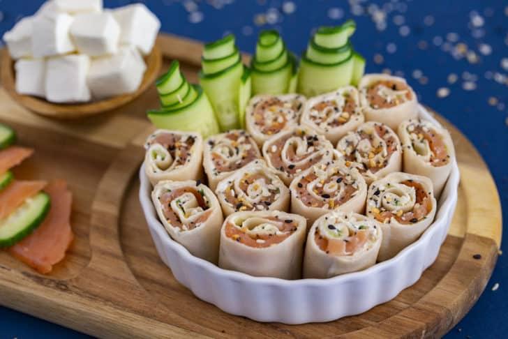 Keto Pinwheels with low carb tortilla
