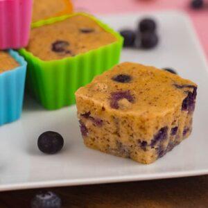 Paleo blueberry muffins with pancake mix