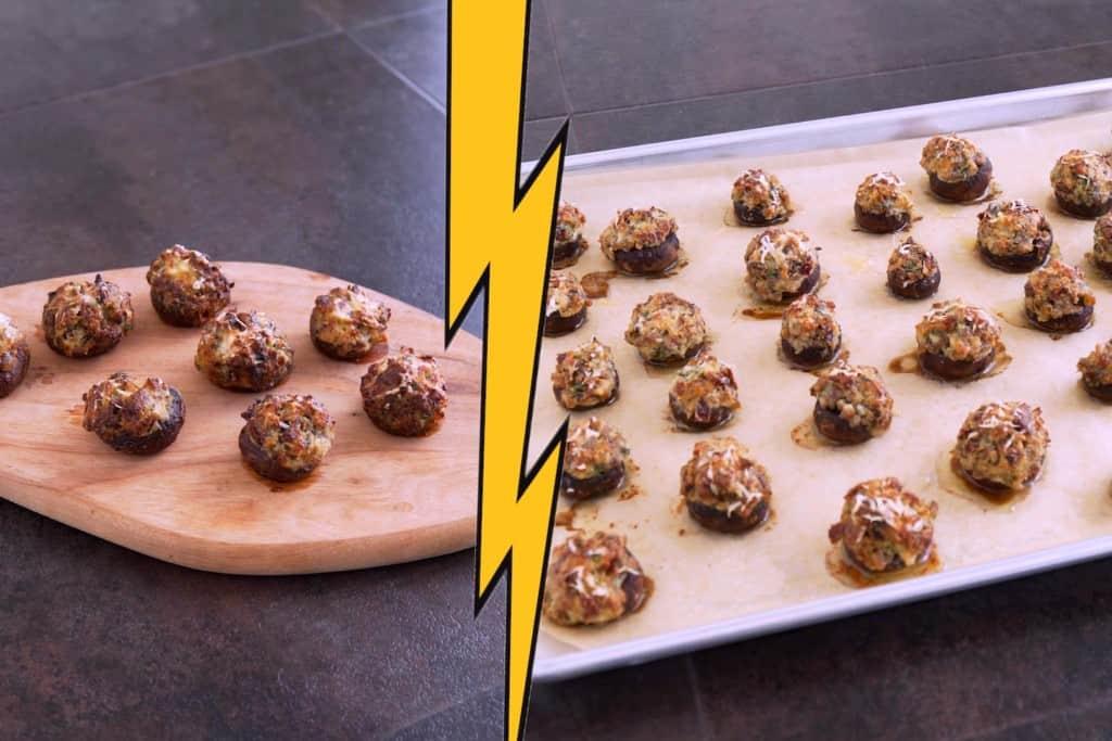 Oven vs Air Fryer Stuffed Mushrooms