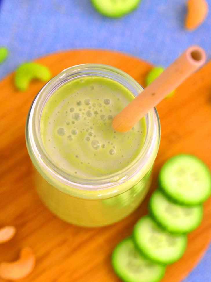 Cucumber Celery Matcha Keto Green Smoothie