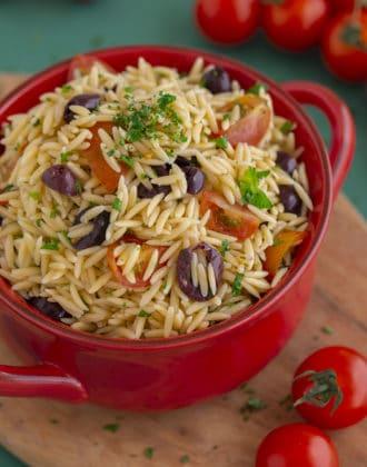 Greek Orzo Pasta Salad Recipe
