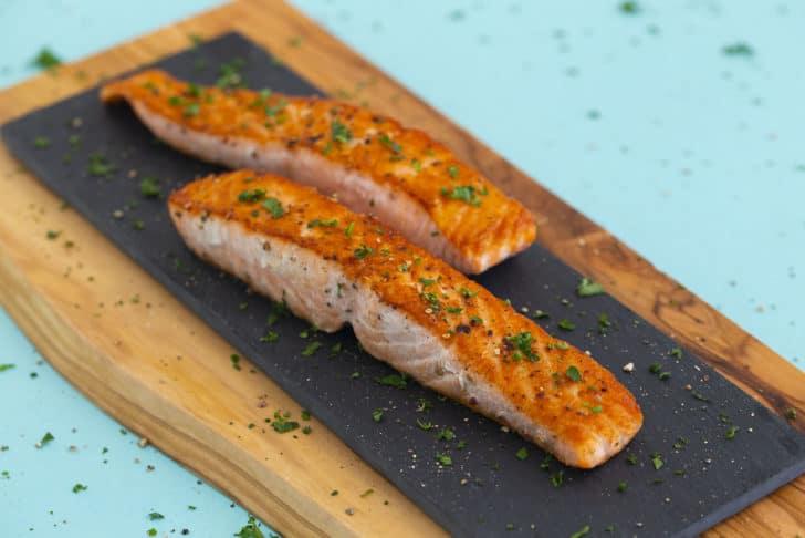 Crispy Pan Seared Salmon Recipe