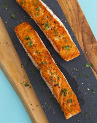 Pan Seared Salmon with Skin (or Without)