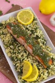 Seared Cilantro Salmon