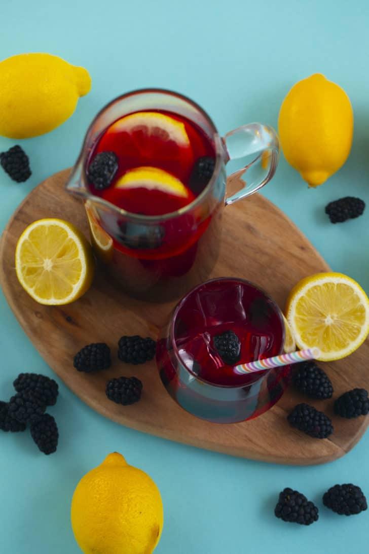 Hibiscus Tea Lemonade
