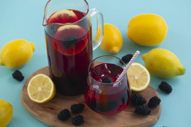 Blackberry Hibiscus Tea Lemonade