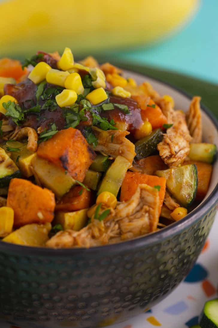 Healthy BBQ Chicken Bowl with Sweet Potato