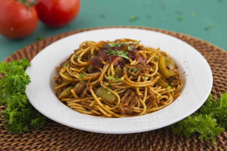 Barbecue Spaghetti Recipe