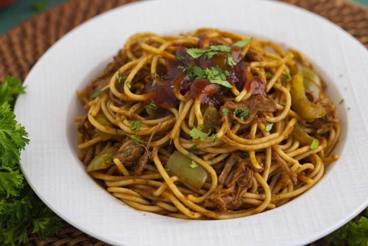 How to make BBQ Spaghetti