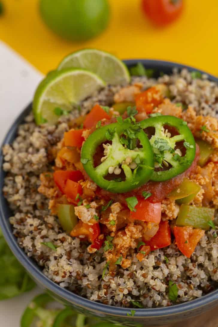 Chicken and Quinoa Burrito Bowl