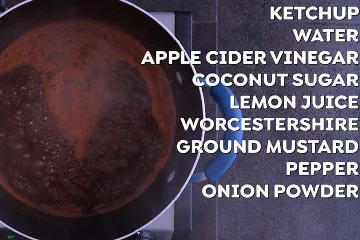 How to make BBQ sauce with ketchup
