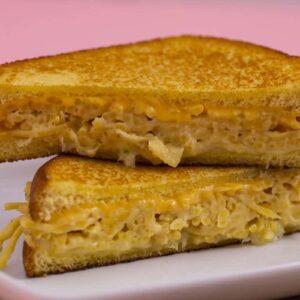 Spaghetti Grilled Cheese Sandwich
