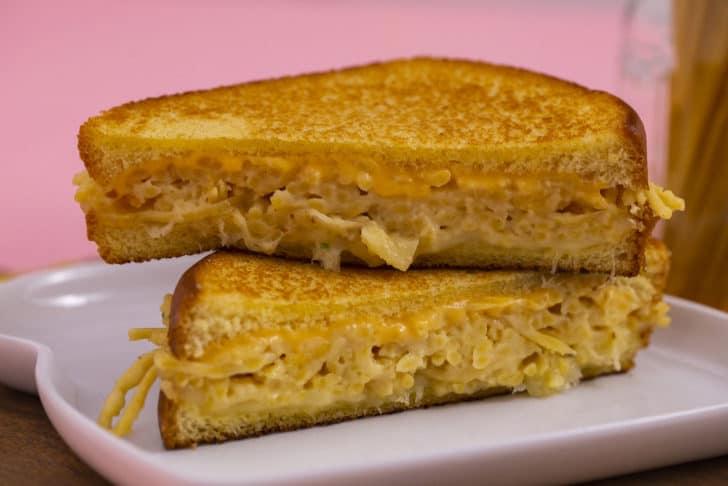 Spaghetti Mac and Cheese Grilled Cheese Sandwich