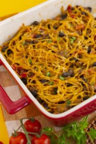 Baked Taco Spaghetti Casserole