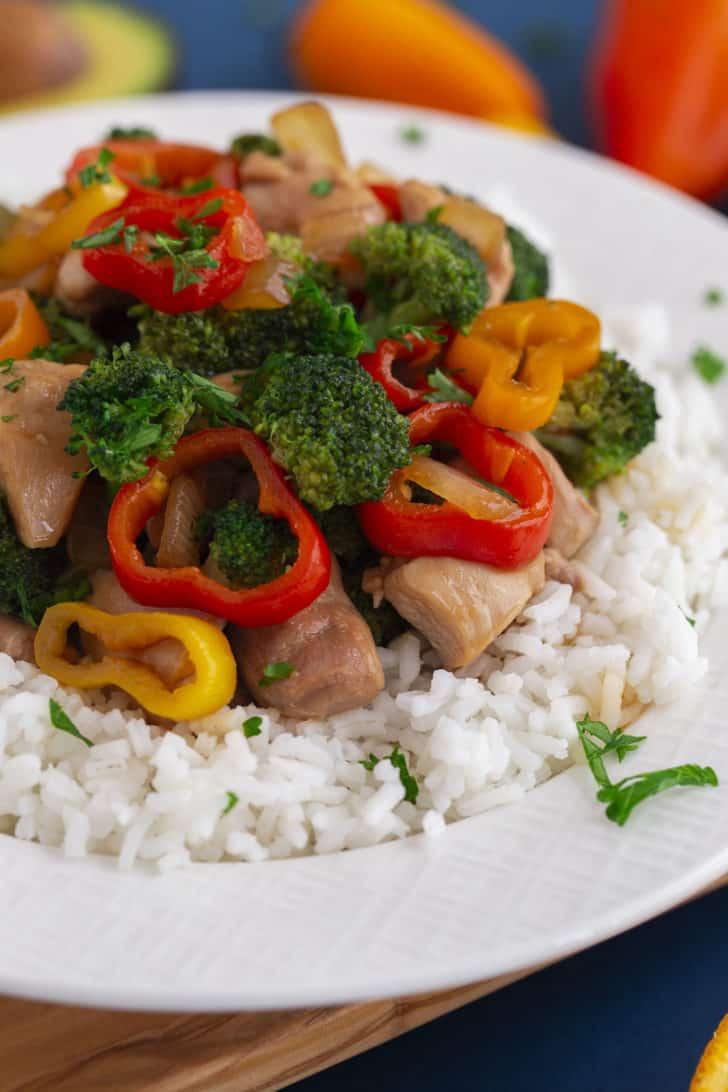 Teriyaki Chicken and Broccoli Bowl