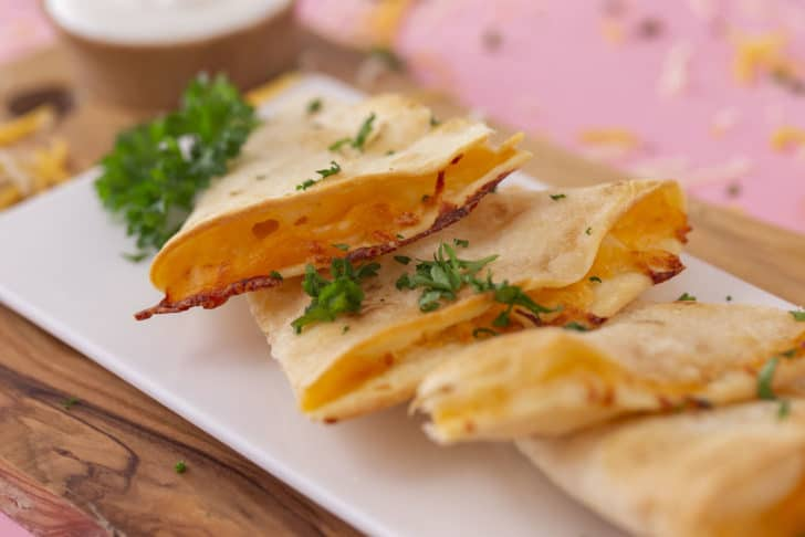 Air Fryer Cheese Quesadilla