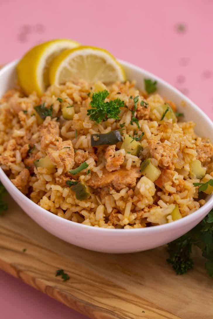 Easy Salmon Rice Bowl