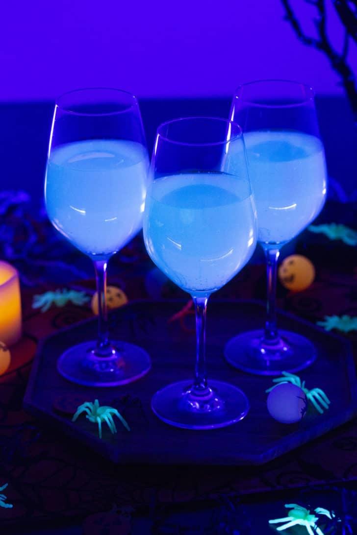 Black Light Lemonade for Halloween