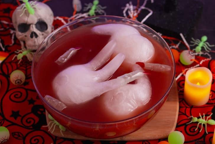 Bloody Hand Halloween Punch